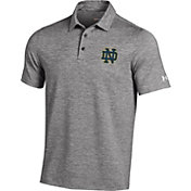 Under Armour Men's Notre Dame Fighting Irish Grey Elevated Heather Polo