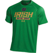 Under Armour Men's Notre Dame Fighting Irish Green UA Tech Performance T-Shirt