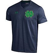 Under Armour Men's Notre Dame Fighting Irish Navy V-Neck T-Shirt