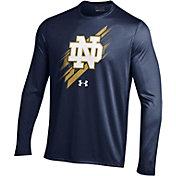 Under Armour Men's Notre Dame Fighting Irish Navy Long Sleeve Tech T-Shirt