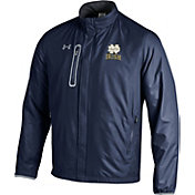 Under Armour Men's Notre Dame Fighting Irish Navy/Grey Hybrid Microfleece Jacket