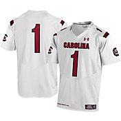 Under Armour Men's South Carolina Gamecocks #1 Replica White Football Jersey