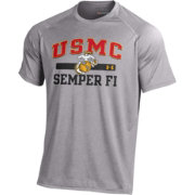 Under Armour Men's United States Marines Grey Performance Tech T-Shirt