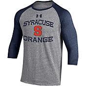 Under Armour Men's Syracuse Orange Grey Baseball T-Shirt