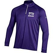 Under Armour Men's TCU Horned Frogs Purple UA Tech Quarter-Zip Shirt
