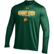 Under Armour Men's Wright State Raiders Green Long Sleeve Tech T-Shirt