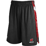 Under Armour Men's Wisconsin Badgers Black/Red Foundation Basketball Short