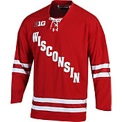 Under Armour Men's Wisconsin Badgers Red Replica Hockey Jersey