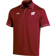 Under Armour Men's Wisconsin Badgers Red Podium Performance Polo