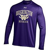 Under Armour Men's Washington Huskies Purple Long Sleeve Tech T-Shirt