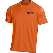 Under Armour NFL Combine Authentic Men's Denver Broncos Wordmark Tech Orange Performance T-Shirt