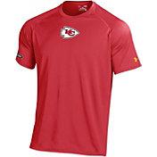 Under Armour NFL Combine Authentic Men's Kansas City Chiefs Logo Tech Red Performance T-Shirt