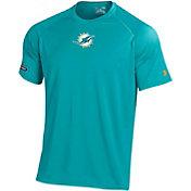 Under Armour NFL Combine Authentic Men's Miami Dolphins Logo Tech Aqua Performance T-Shirt