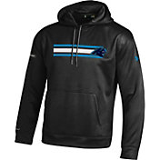 Under Armour NFL Combine Authentic Men's Carolina Panthers Stripe Armour Fleece Black Performance Hoodie