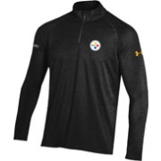 Under Armour NFL Combine Authentic Men's Pittsburgh Steelers Twist Tech Black Quarter-Zip Performance Pullover