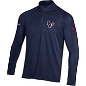 Under Armour NFL Combine Authentic Men's Houston Texans Twist Tech Navy Quarter-Zip Performance Pullover