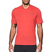 Under Armour Men's Threadborne Siro Striped Print V-Neck T-Shirt