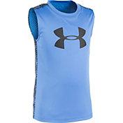 Under Armour Toddler Boys' Big Logo Midtown Grid Sleeveless Shirt