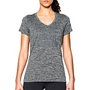 Under Armour Women's Tech Twist Print Graphic V-Neck T-Shirt