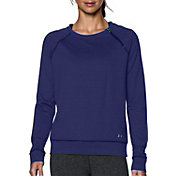 Under Armour Women's ColdGear Cozy Zip Crewneck Long Sleeve Shirt