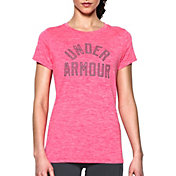 Under Armour Women's Graphic Twist Print Tech Crewneck T-Shirt