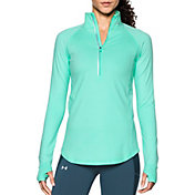 Under Armour Women's Threadborne Run True Half Zip Long Sleeve Running Shirt