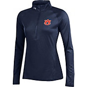 Under Armour Women's Auburn Tigers Blue UA Tech Quarter-Zip Shirt