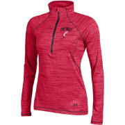 Under Armour Women's Cincinnati Bearcats Red Space Tech Performance Quarter-Zip Long Sleeve Shirt