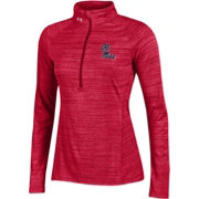 Under Armour Women's Ole Miss Rebels Red UA Tech Quarter-Zip Shirt