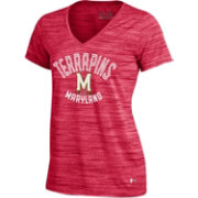 Under Armour Women's Maryland Terrapins Red UA Space Tech V-Neck T-Shirt