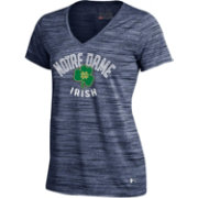 Under Armour Women's Notre Dame Fighting Irish Navy UA Space Tech V-Neck T-Shirt