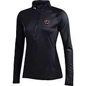 Under Armour Women's South Carolina Gamecocks Black UA Tech Quarter-Zip Shirt