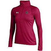 Under Armour Women's South Carolina Gamecocks Garnet UA Tech Micro Stripe Quarter-Zip Shirt