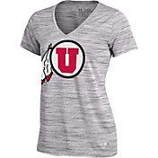 Under Armour Women's Utah Utes Grey UA Space Tech V-Neck T-Shirt