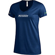 Under Armour NFL Combine Authentic Women's Seattle Seahawks Wordmark Tech Navy Performance T-Shirt
