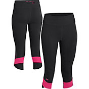 Under Armour Women's Power In Pink Fly-By Compression Capris