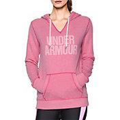 Under Armour Women's Power In Pink Favorite Fleece Wordmark Popover Hoodie