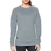 Under Armour Women's Fleece Textured Crewneck Long Sleeve Shirt