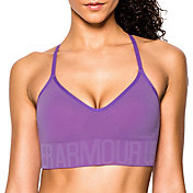 Under Armour Women's HeatGear Armour Seamless Heather Sports Bra w/ Cups