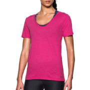 Under Armour Women's Charged Cotton Scoop V-Neck T-Shirt