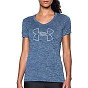Under Armour Women's Tech Branded V-Neck T-Shirt