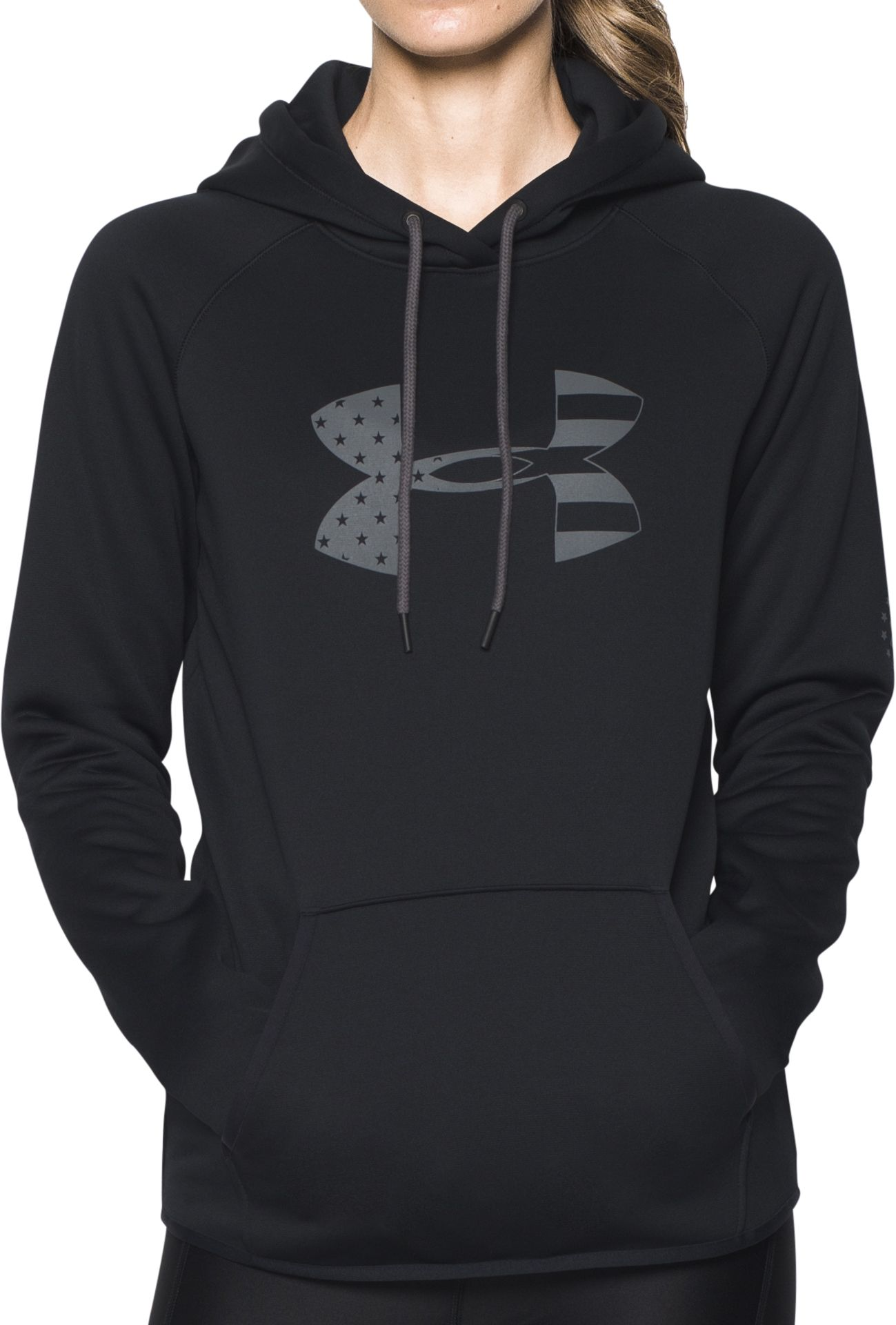 under armour zip up. under armour women\u0027s tactical big flag logo hoodie zip up e