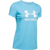 Under Armour Women's Threadborne Sportstyle Twist Print Crewneck T-Shirt