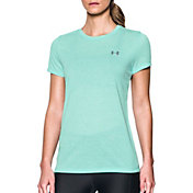 Under Armour Women's Threadborne Train Striped Print Crewneck T-Shirt