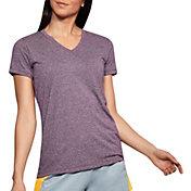Under Armour Women's Threadborne Train Twist Print V-Neck T-Shirt