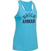 Under Armour Women's Threadborne Train Wordmark Twist Print Tank Top