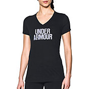 Under Armour Women's Threadborne Wordmark V-Neck T-Shirt