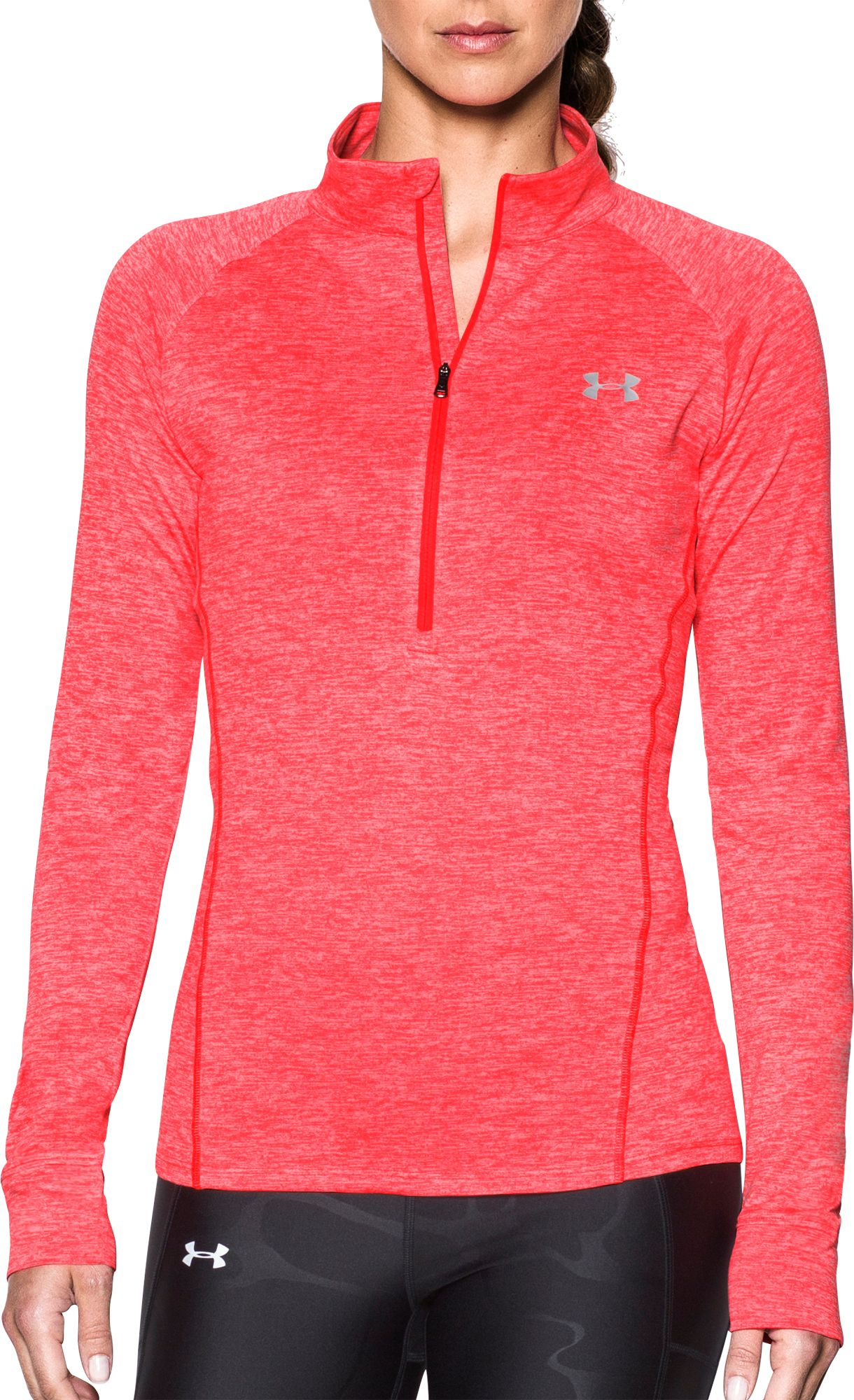 under armour quarter zip womens. under armour women\u0027s tech twist half-zip long sleeve shirt quarter zip womens