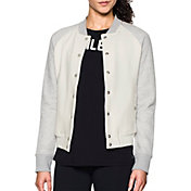 Under Armour Women's Varsity Fleece Bomber Jacket