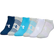 Under Armour Women's Essential No Show Liner Socks 6 Pack